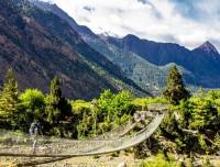 After Thorang-la pass walking into the kali gandaki valley