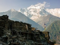 picture from Greu with face of man on the Annapurna two