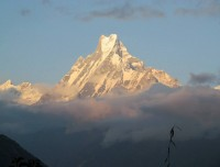 One of the beautiful mountain machapuchre known as Fishtail.