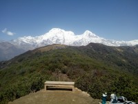 View of Gangapurna and Annapurna Three