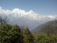 this is the amazing view of the mountain and green valley