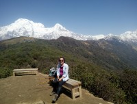 at the Badal Dada with excellent view of the Annapurna Himalaya