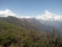 wonderful view of Machapuchre and Annapurna three.
