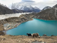 beautiful lake at Gokyo
