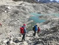 crossing Gazongbo Glacier
