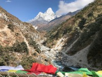 river view with Ama Dablam