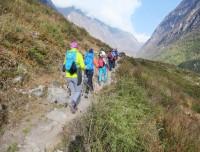 Heading to Langtang