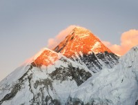 sunset on the Everest