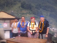 welcoming by the villager people