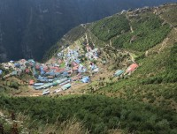 Namache Bazar the capital of Sherpa Village