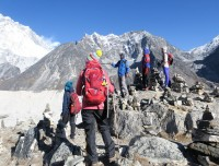 talking about EBC  and Khumbu Glacier